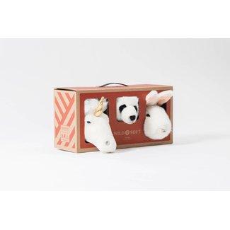 Wild & Soft Lovely Geschenkdoos Mini Unicorn-Panda-Konijn   Wild & Soft