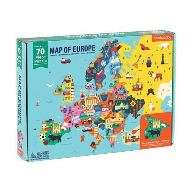 Puzzel Kaart Van Europa   Mudpuppy