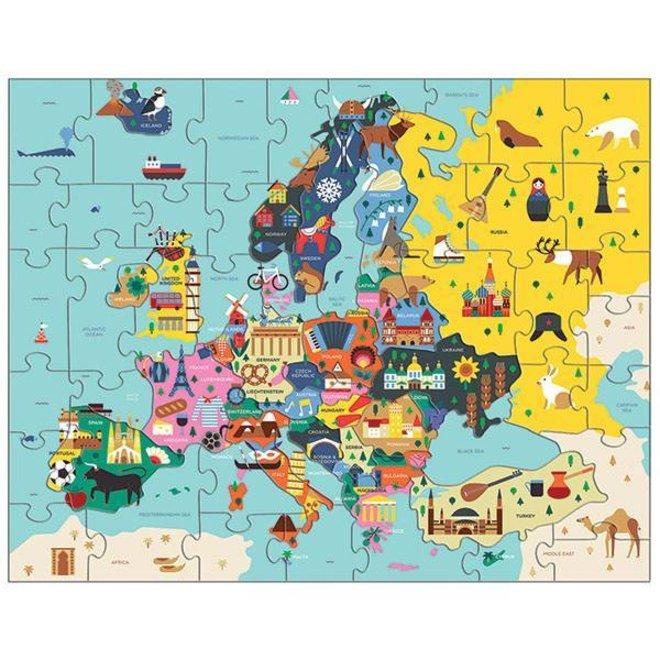 Puzzel Kaart Van Europa | Mudpuppy