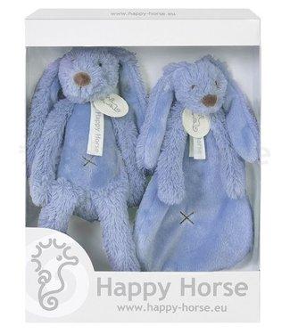 Happy Horse Giftbox Knuffels Konijn Richie Deep  Blue   Happy Horse