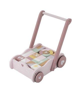 Little Dutch Blokkenkar & Loopwagen Adventure Pink| Little Dutch