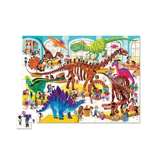 Puzzel Day At The Museum Dinosaurus 48 pcs | Crocodile Creek