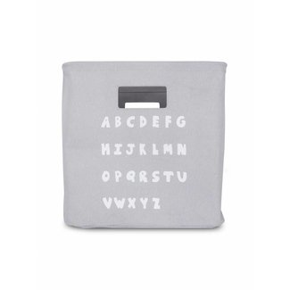 "Jollein Canvas Opbergmand ABC ""Soft Grey"" 