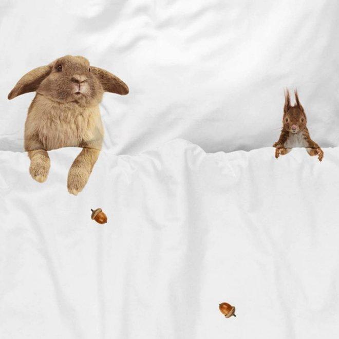 Dekbedovertrek Furry Friends 120 x 150 cm | Snurk