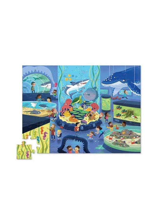 Puzzel Day At The Museum/Aquarium 48 pcs | Crocodile Creek