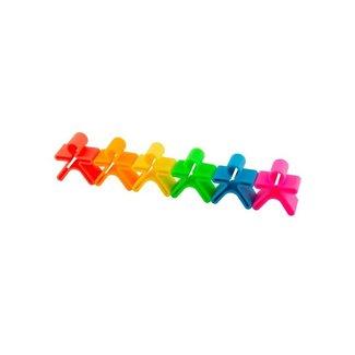 Dena 6 speelfiguurtjes Neon | Dena