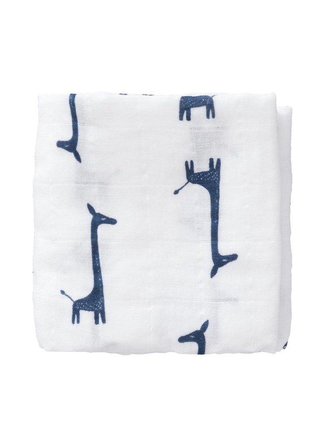 Set van 2 Tetradoeken Small - Giraf blauw