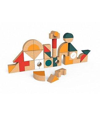 Elou Kurken Blokkenset met vormen - 36stuks