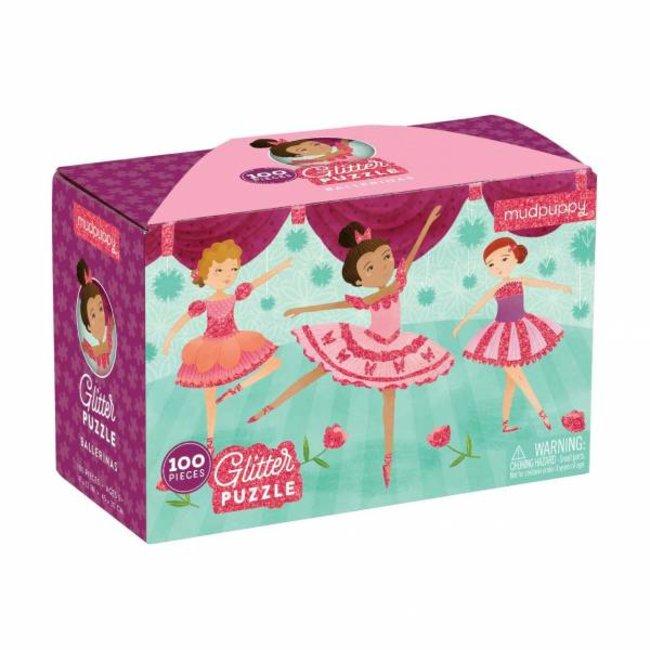 Glitter Puzzel – Ballerinas 100stuks