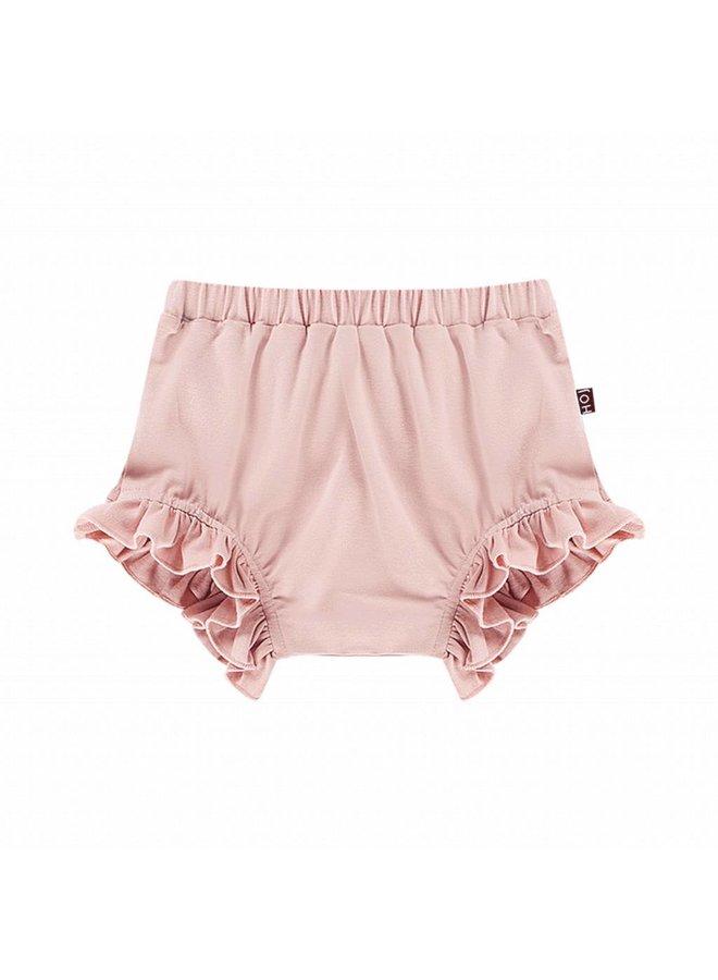 Ruffled Shorts – Powder Pink