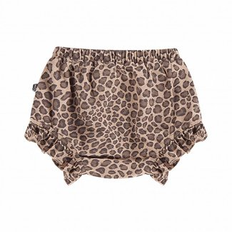 House of Jamie Ruffled Shorts – Caramel Leopard