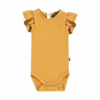House of Jamie Ruffled Bodysuit – Honey Mustard