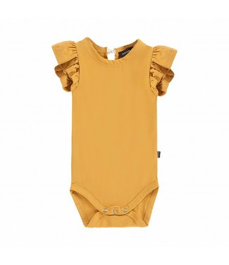 House of Jamie Ruffled Bodysuit – Honey Mustard