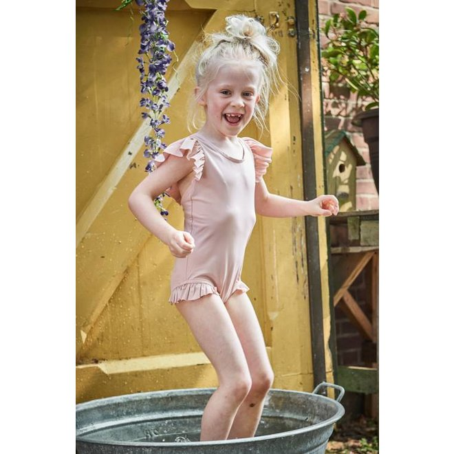 Ruffled Swimsuit – Powder Pink