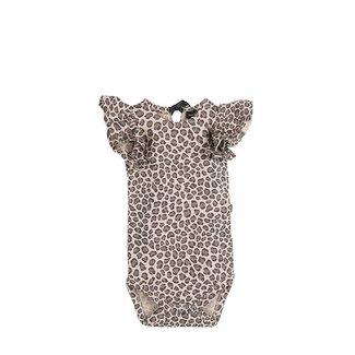 House of Jamie Ruffled Bodysuit – Caramel Leopard