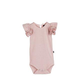 House of Jamie Ruffled Bodysuit – Powder Pink