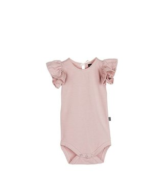 House of Jamie Ruffled Bodysuit – Powder Pink