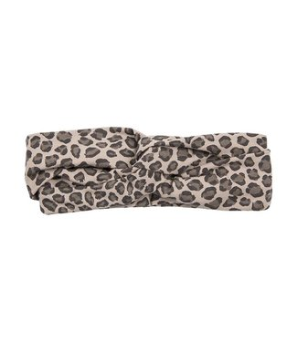 House of Jamie Turban Hoofdband – Caramel Leopard