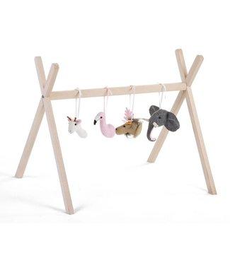 Childhome Gym figuurtjes Vilten Dierenhoofdjes (set van 4 stuks)