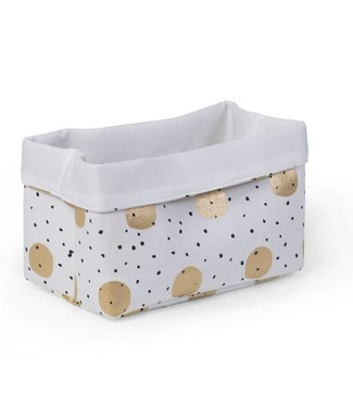 Childhome Canvas Mand Gold Dots 32x20x20cm