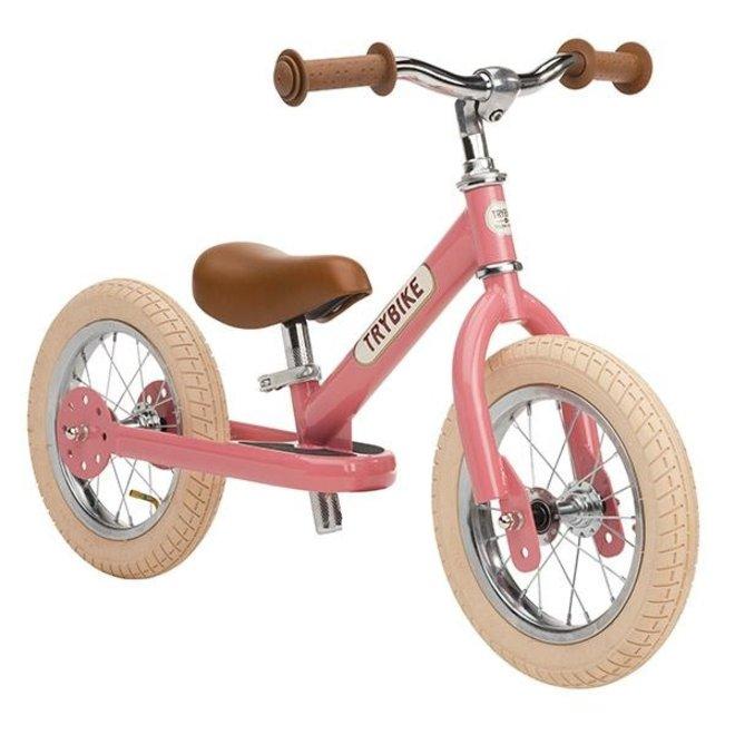 Trybike Steel loopfiets - Vintage Pink | Trybike