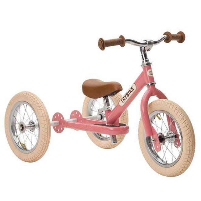Trybike  Steel 2-1 loopfiets Vintage Pink | Trybike