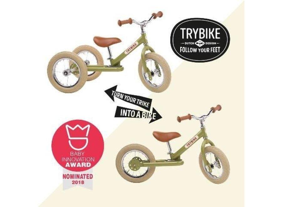 Trybike  Steel 2-1 loopfiets Vintage Pink   Trybike