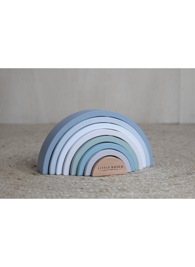 Houten Regenboog – blauw