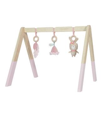 Little Dutch Houten babygym met speeltjes - pink