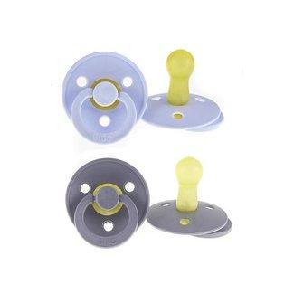 BIBS 0-6M Set van 2 Fopspenen Bibs -  Iron/baby blue