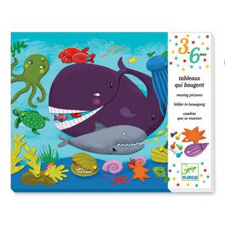 Djeco Bewegend Schilderij – Lieve diertjes