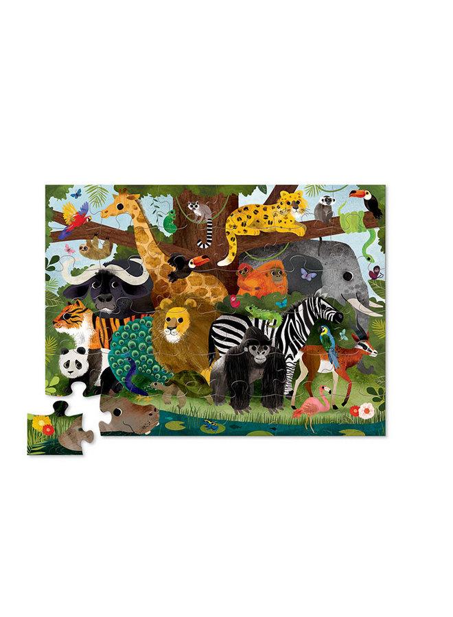 Vloerpuzzel Jungle Friends – 36st