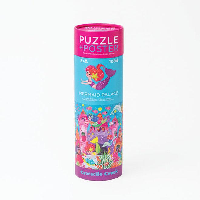 Puzzel & Poster – Zeemeermin 100st