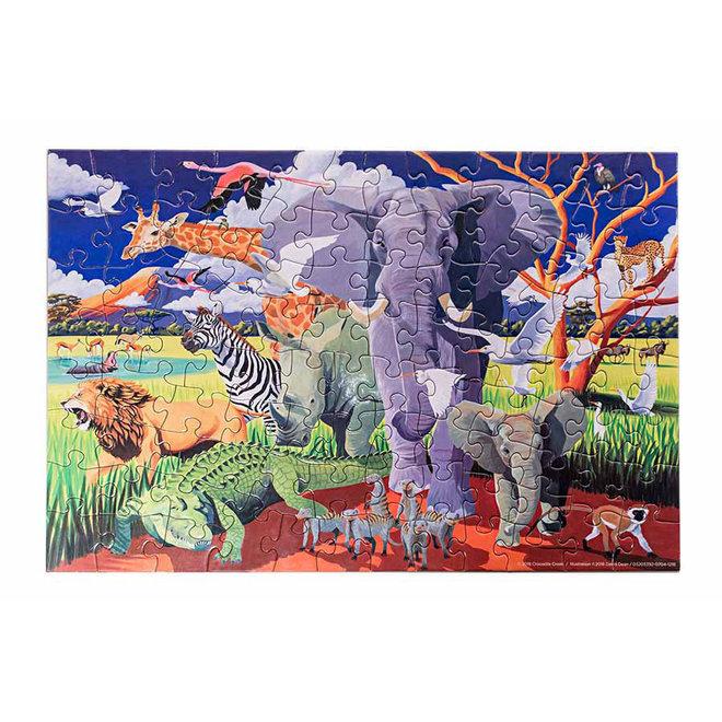 Puzzel & Poster – Wild Safari 100st