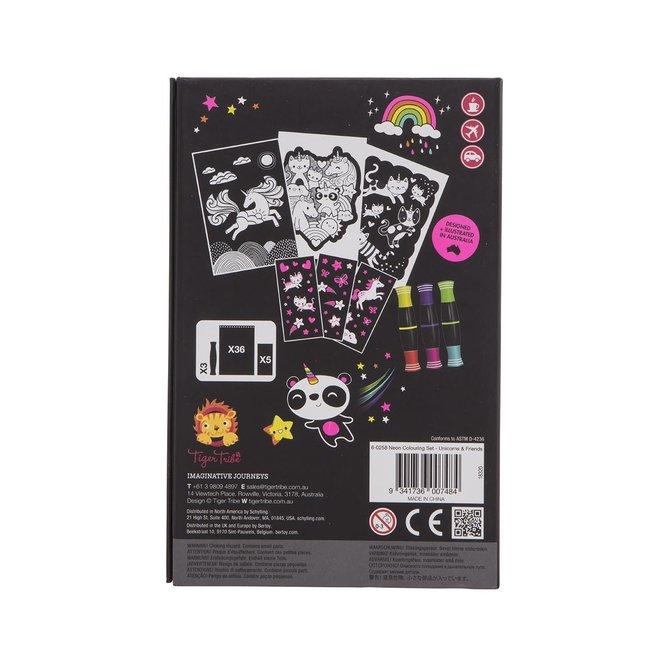 Neon Kleurset – Unicorn & Friend