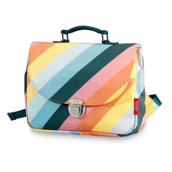 Schooltas small 'Stripe Rainbow'
