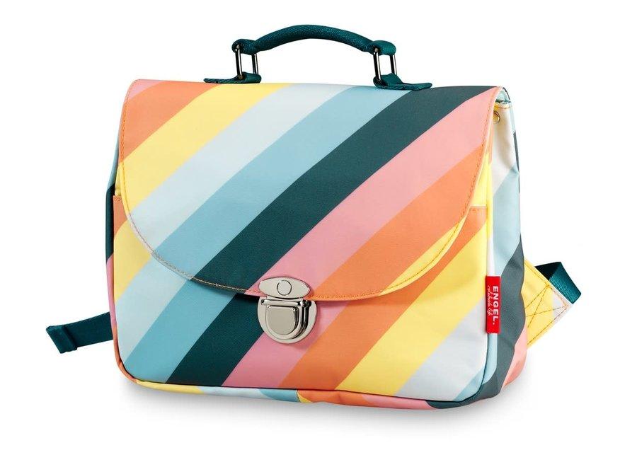 Schooltas small 'Stripe Rainbow'
