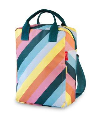 Engel. Rugzak large 'Stripe Rainbow'