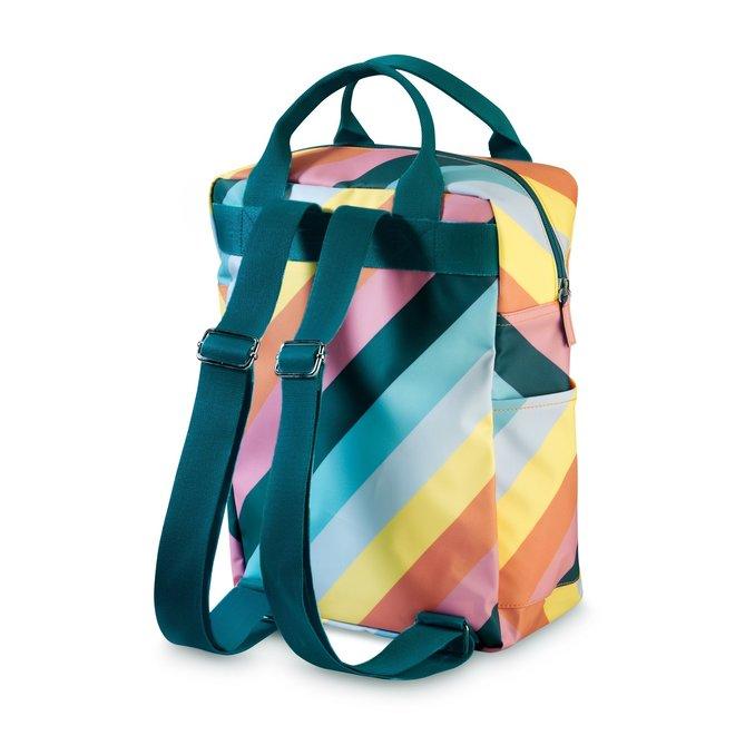 Rugzak large 'Stripe Rainbow'