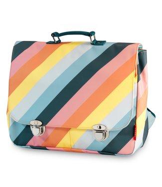 Engel. Schooltas large 'Stripe Rainbow'