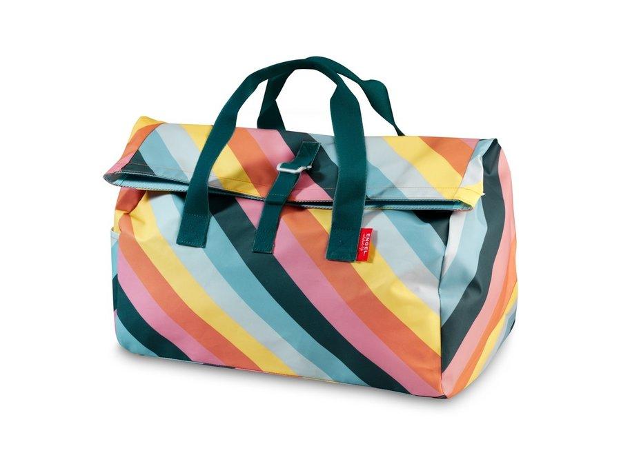 Weekendtas / Sporttas Flip 'Stripe Rainbow'