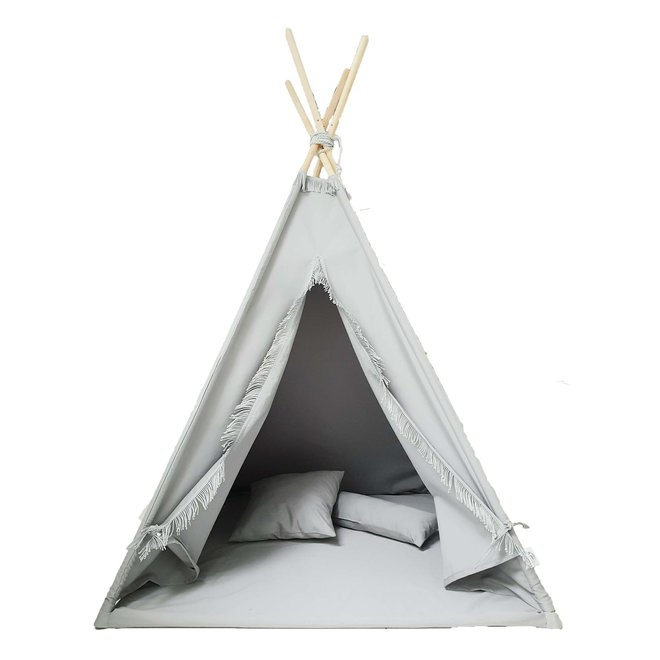 Tipi Tent Grijs met vloermatras | Miiimi