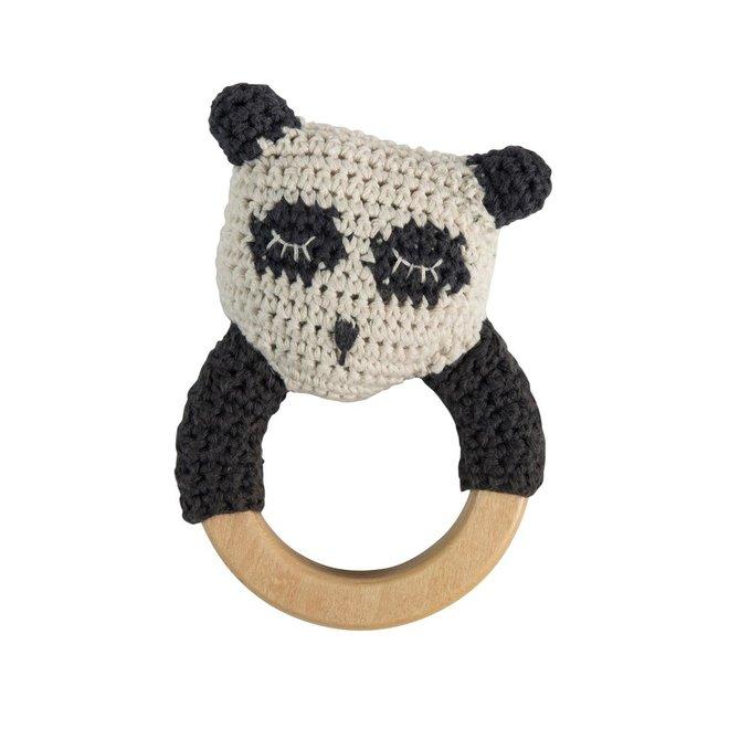 Gehaakte rammelaar Panda
