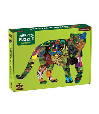 Mudpuppy Shaped Puzzel Regenwoud – 300st