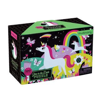 Mudpuppy Puzzel Glow in the Dark Unicorns – 100st