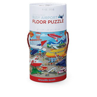 Crocodile Creek Vloerpuzzel Busy Airport – 50st