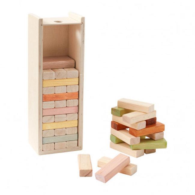 Kid's Concept Houten Stapelbokjes in houten doos
