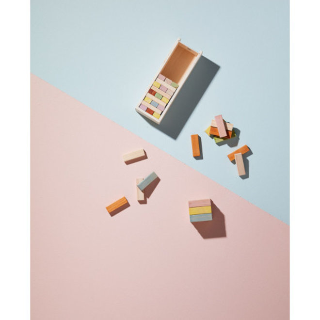 Houten Stapelbokjes in houten doos