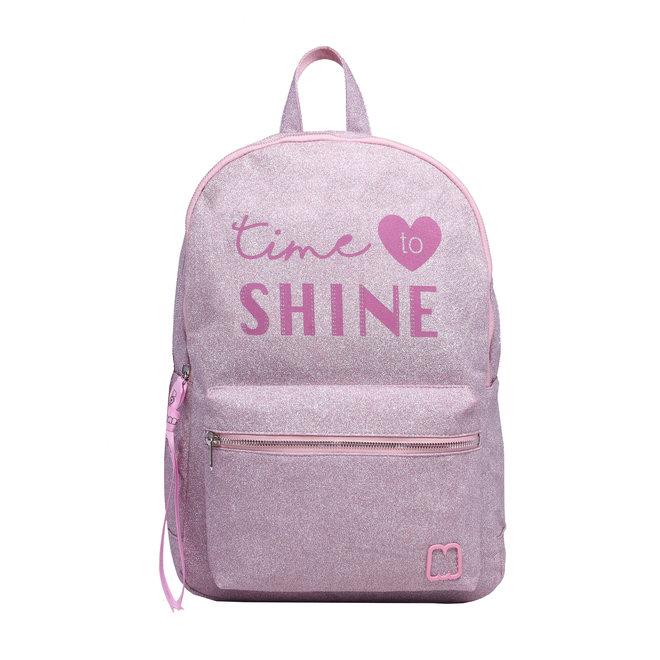 Rugzak Time to Shine Glitter Roze