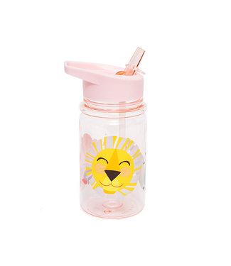 Petit Monkey Drinkfles Shiny Lion Pink